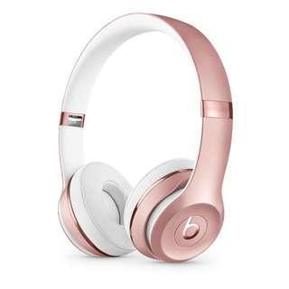 Beats Solo3 Wireless On-Ear Headphones - Rose Gold (Wireless)