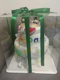 尿片蛋糕 滿月 百日宴禮物 初生BB 自由配搭