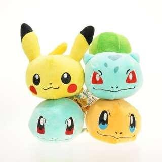Boneka Pokemon Pikachu Charmander Squirtle Bulbasaur Plush