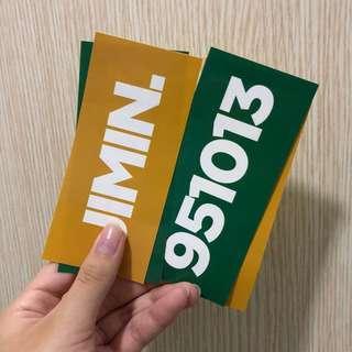 jimin name stickers
