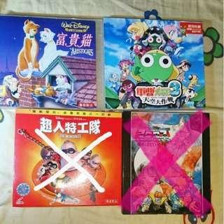 各款動漫VCDs: 富貴貓/Keroro電影天空大決戰