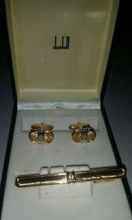 Dunhill Tie Clip and Cuffling