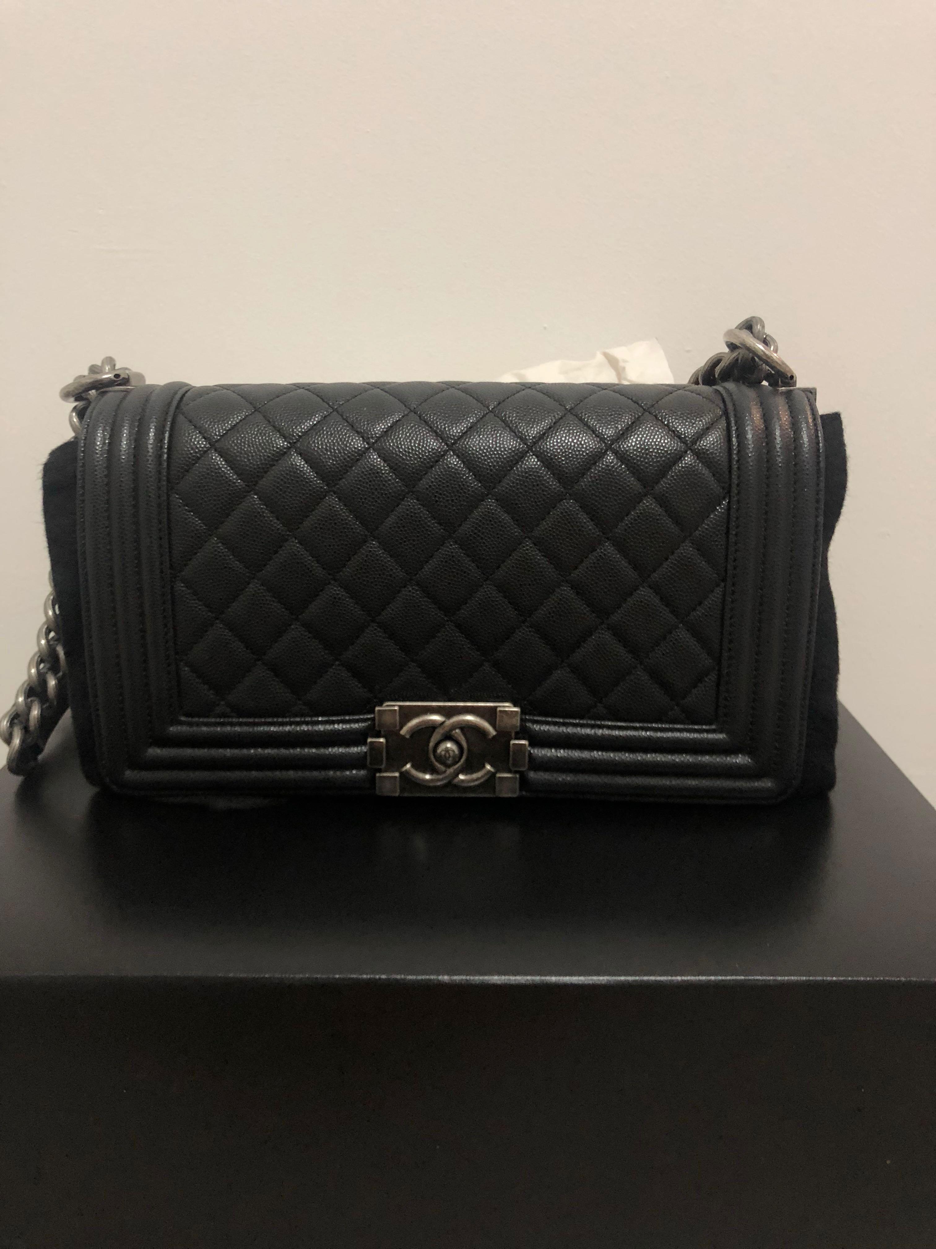 dd994e6872ac70 23 Chanel Boy in caviar old medium, Women's Fashion, Bags & Wallets ...