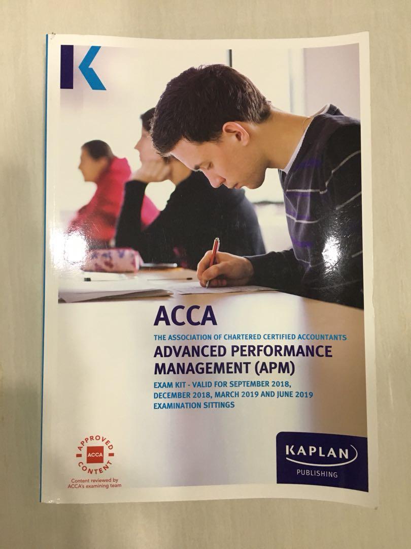 ACCA APM Exam Kit (Kaplan) - valid till June 2019, Books