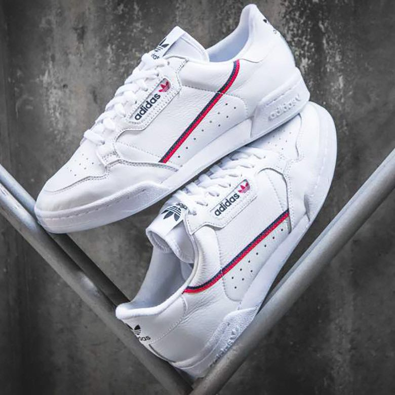 factory authentic bf636 25b40 Adidas Continental 80 Rascal White Sneakers Shoes B41674, Wo