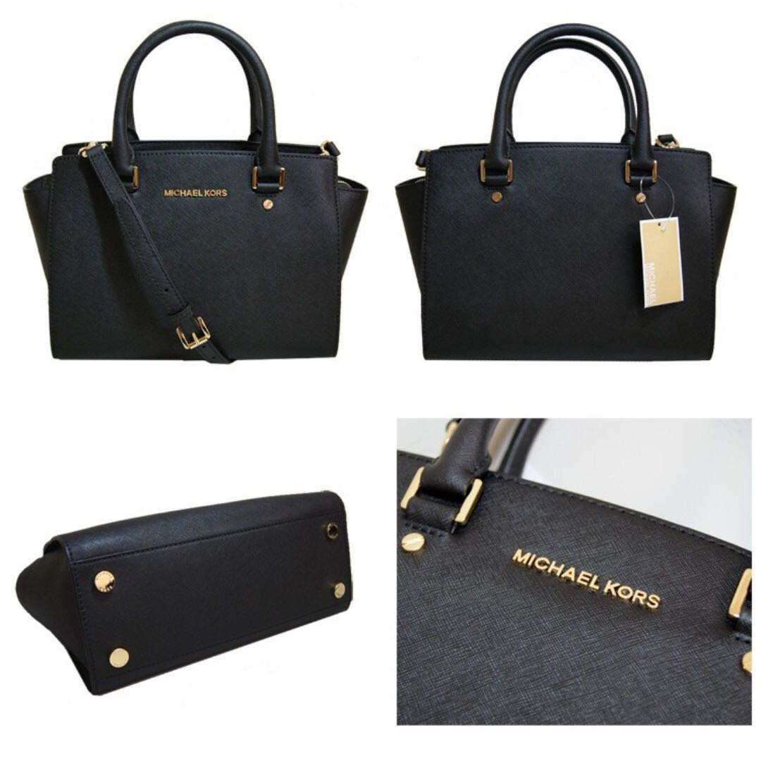 6d9fdbb04127 Brand new 🔥 MICHAEL KORS Selma Saffiano Leather Medium Satchel ...