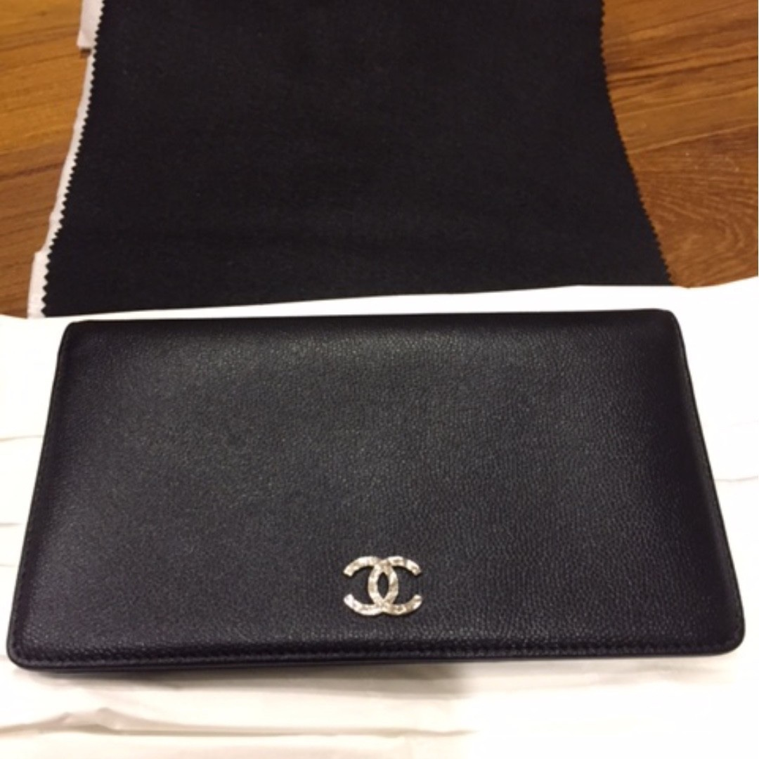 c4678543bf4c BRAND NEW BLACK CHANEL CAVIAR BIFOLD WALLET WITH BOX, Luxury, Bags ...