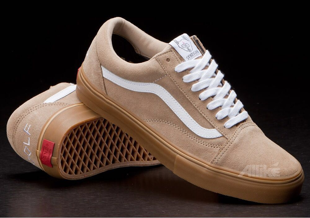 d6f1957e674c Brand New  Vans x Golf Wang Syndicate Old Skool Pro Camel Gum