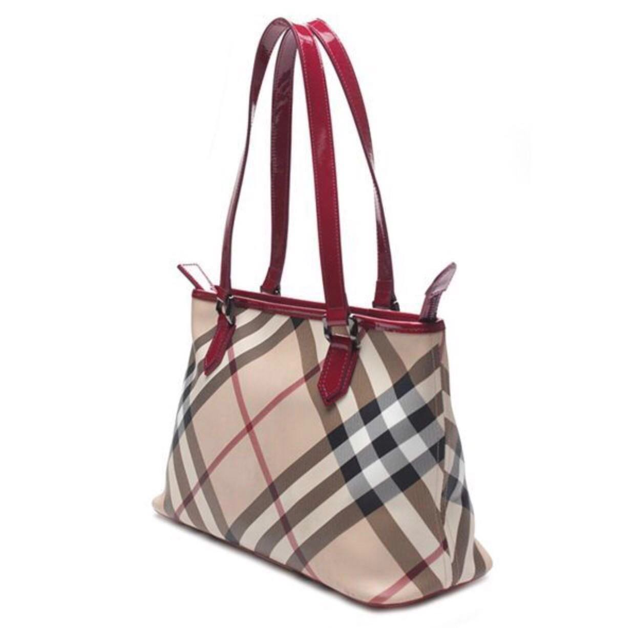 5a512b08eefb Burberry Nova Check Coated Canvas Regent Tote Bag