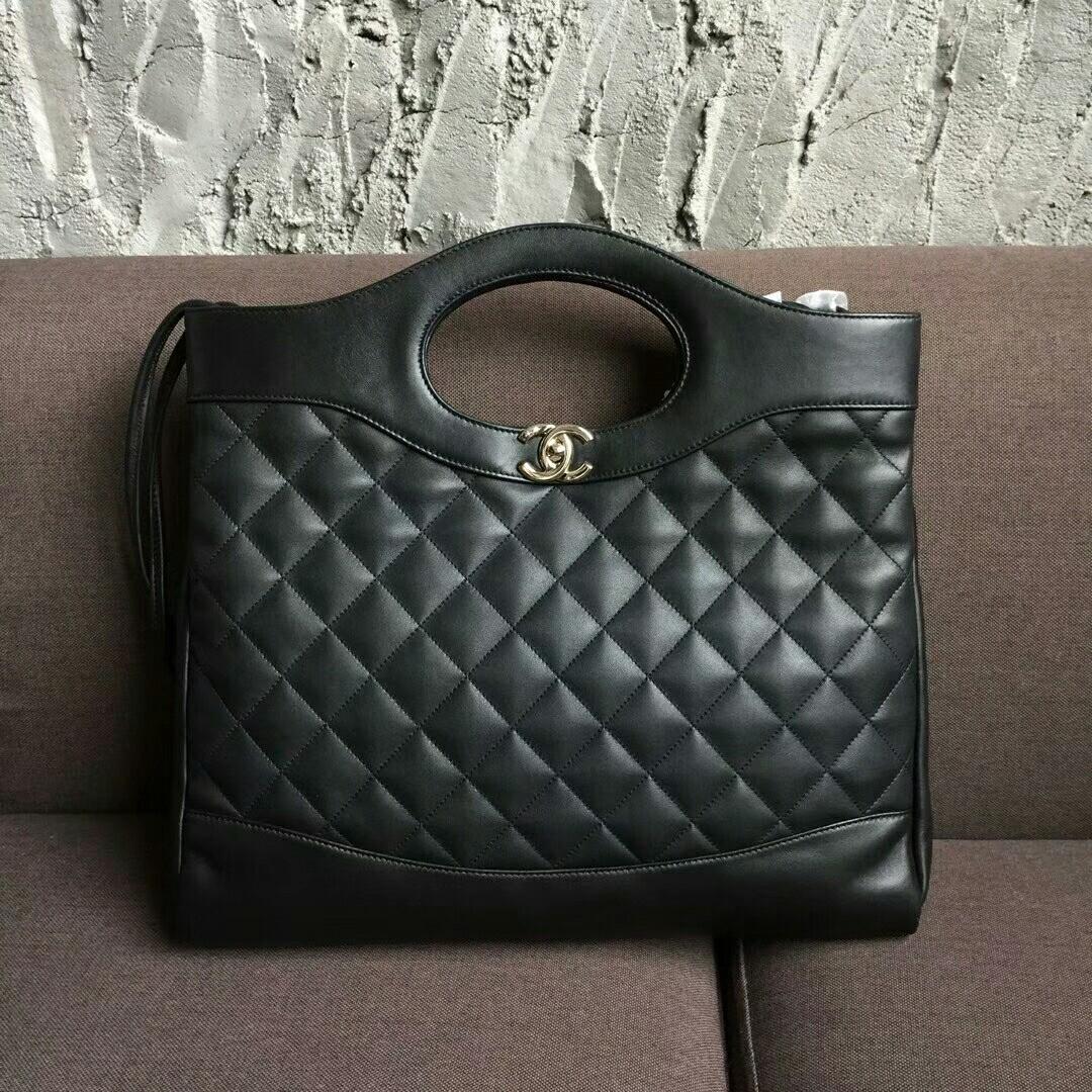 2ad39f54e4ab Chanel 31 Large Shopping Bag Black