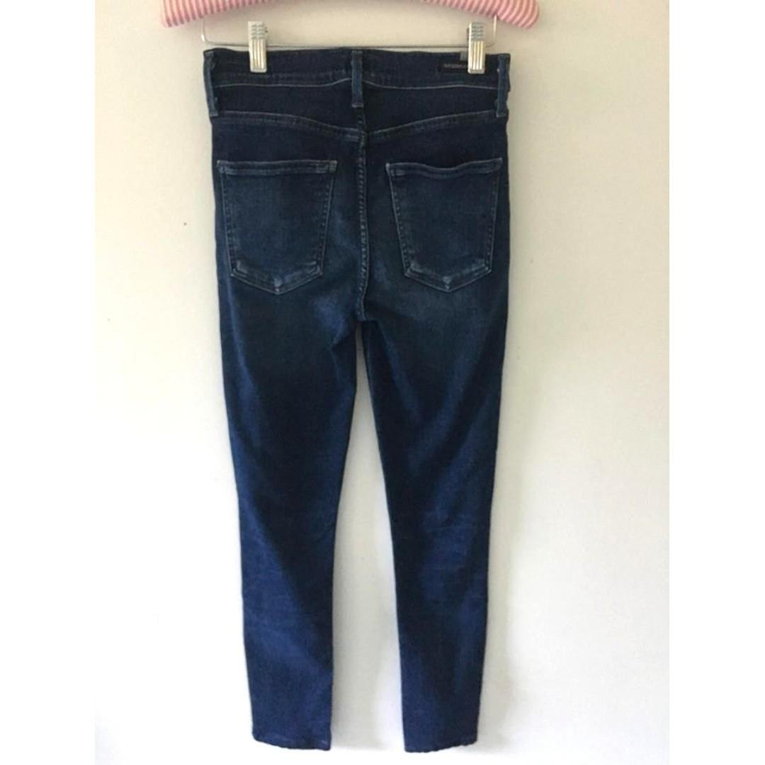 Citizens of Humanity Rocket Crop in Waverly / Size 25 / High Rise Jeans Aritzia Skinny Navy Blue