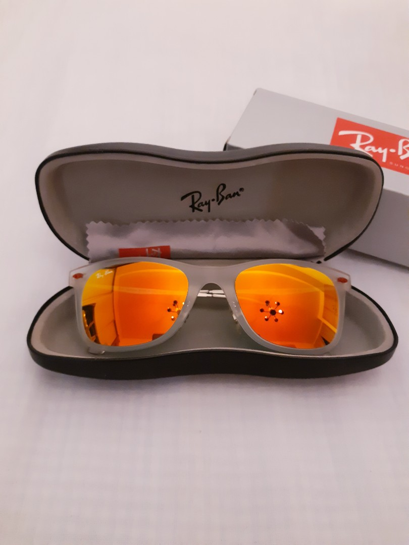 547d6b6e60fed CLEARANCE Rayban RB 4210 646 6Q 50 LIGHTRAY MATTE CLEAR RED MIRRORED ...