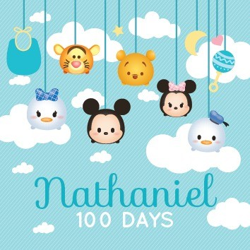 Customise Sticker For 100days Baby Shower Design Craft Art