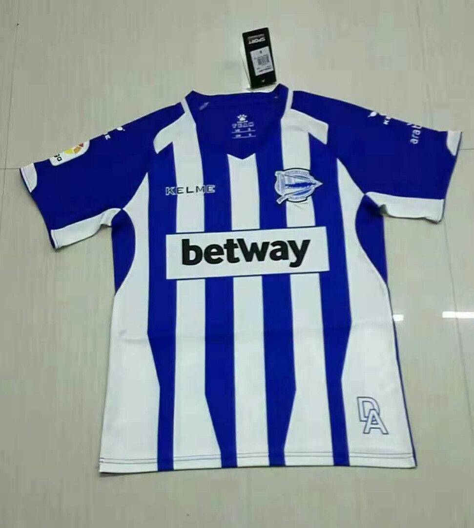 cd448c4c1 Deportivo Alaves 18-19 Home Short Sleeve Jersey, Sports, Sports ...