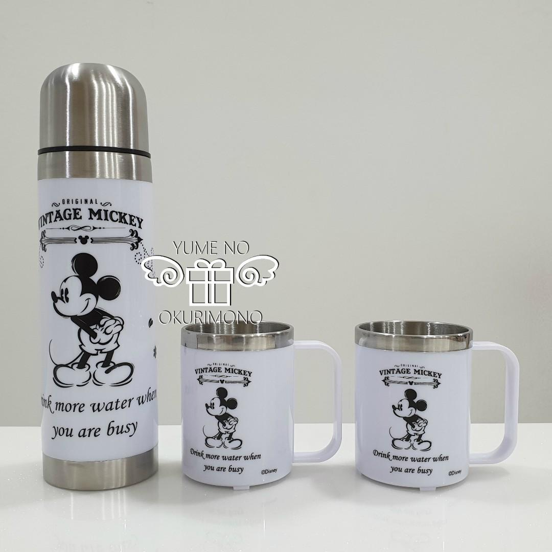 Mouse 2 Disney Flask Stainless With Thermo Mickey Mug Steel Pcs 7bf6mYgyIv