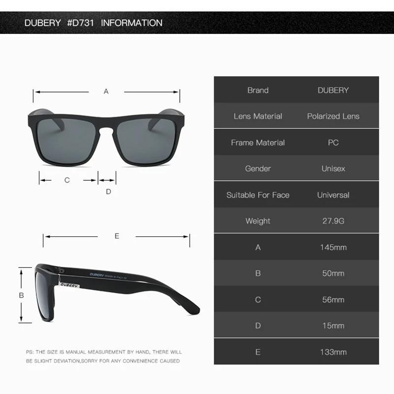 Dubery Polarized Sunglasses (Red)