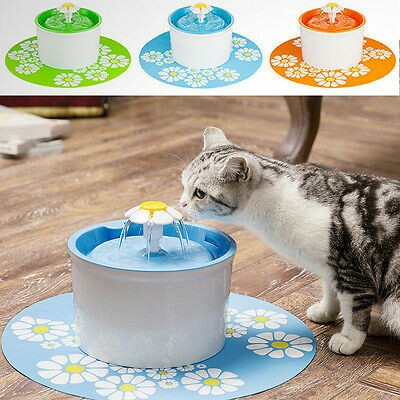 Flower Automatic Electronic Pet Cat Dog Water Drinking Fountain Bowl Filter 1.6l Dishes, Feeders & Fountains Pet Supplies