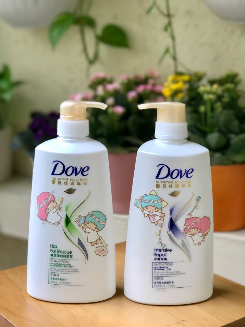 Empty new Dove Little Twin Star Shampoo bottles