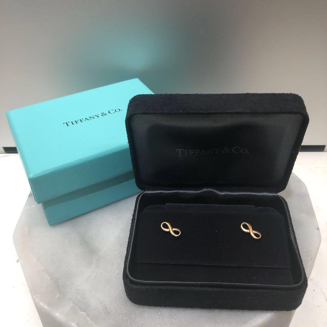 df6c5eb3d Fire Sale Tiffany & Co Infinity Stud Earring 18k Rose Gold, Luxury ...