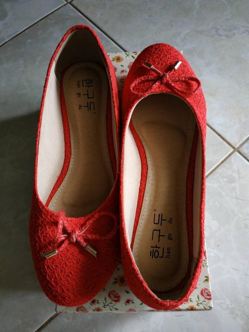 Flatshoes Merah ukuran 39 f089189ed9