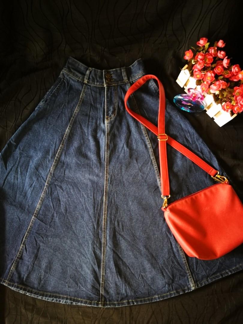 6bf78ecb0 Long Denim Skirts With Pockets – DACC