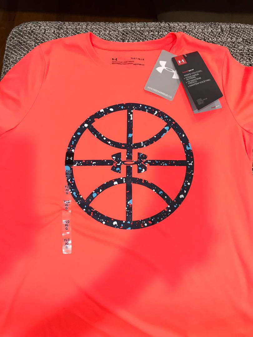Girls Under Armour Dry-Fit T-Shirt (Youth LG) 3b2f09df35
