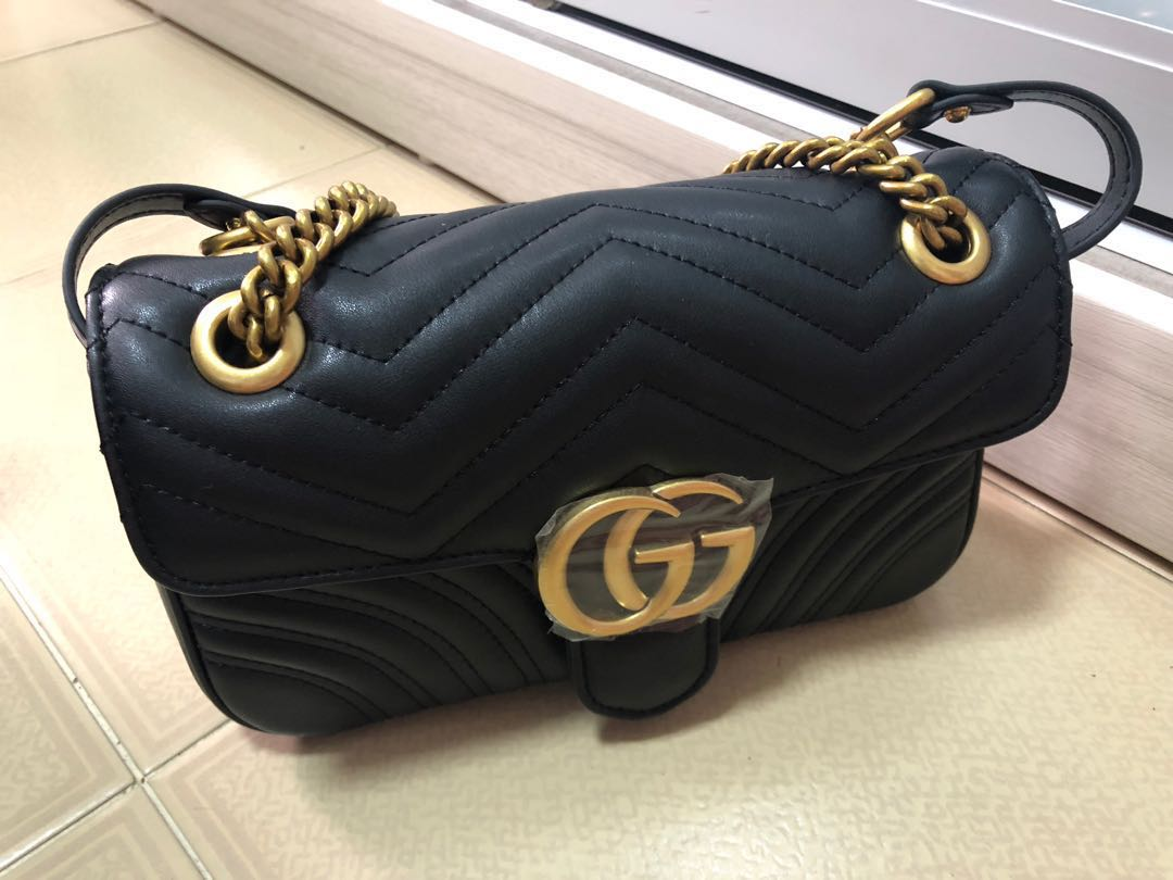 56953daac2d1b2 Gucci marmont, Women's Fashion, Bags & Wallets, Sling Bags on Carousell