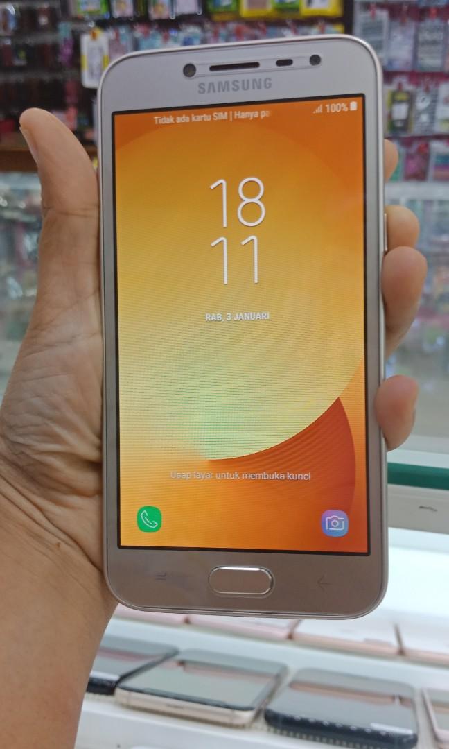 Hp Second Samsung J2 Pro Gold Fullset Garansi Sein Resmi Mobile