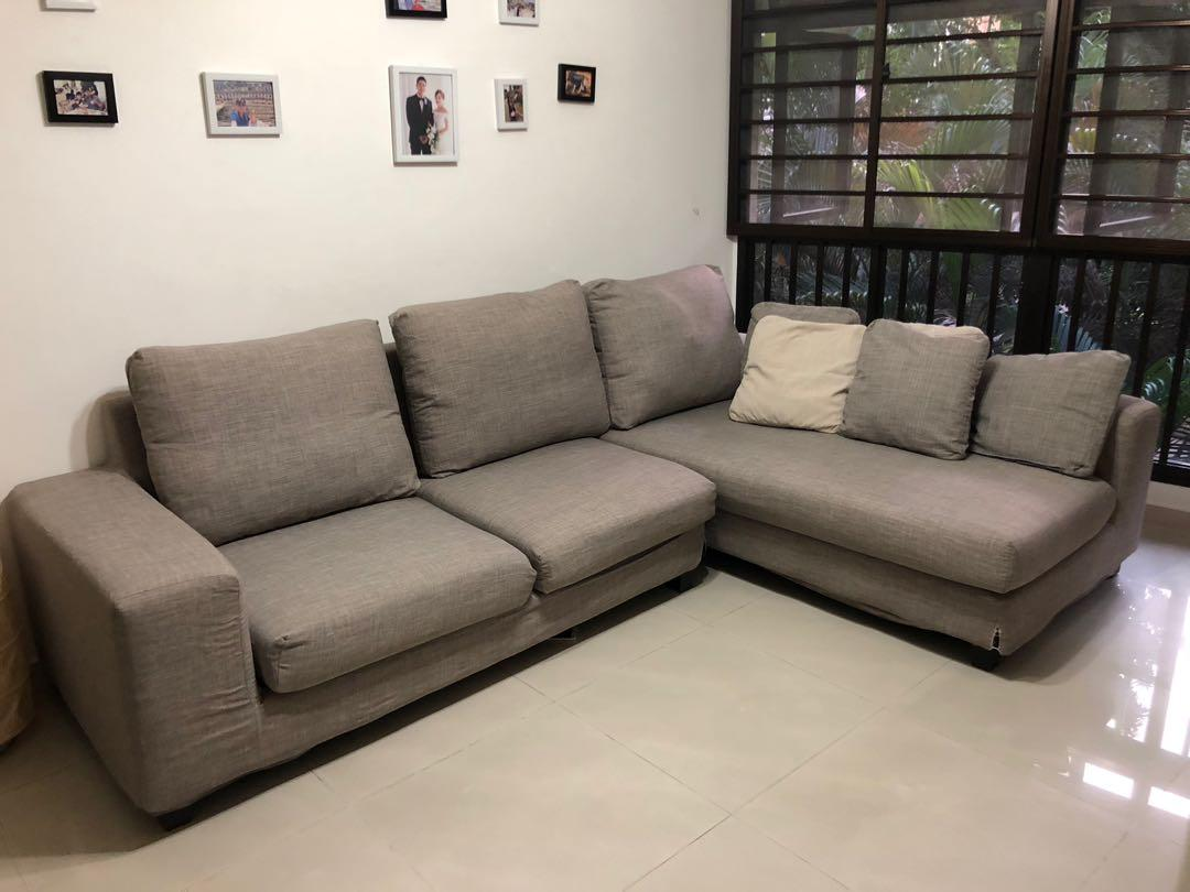 L Shape Sofa With Removable Washable