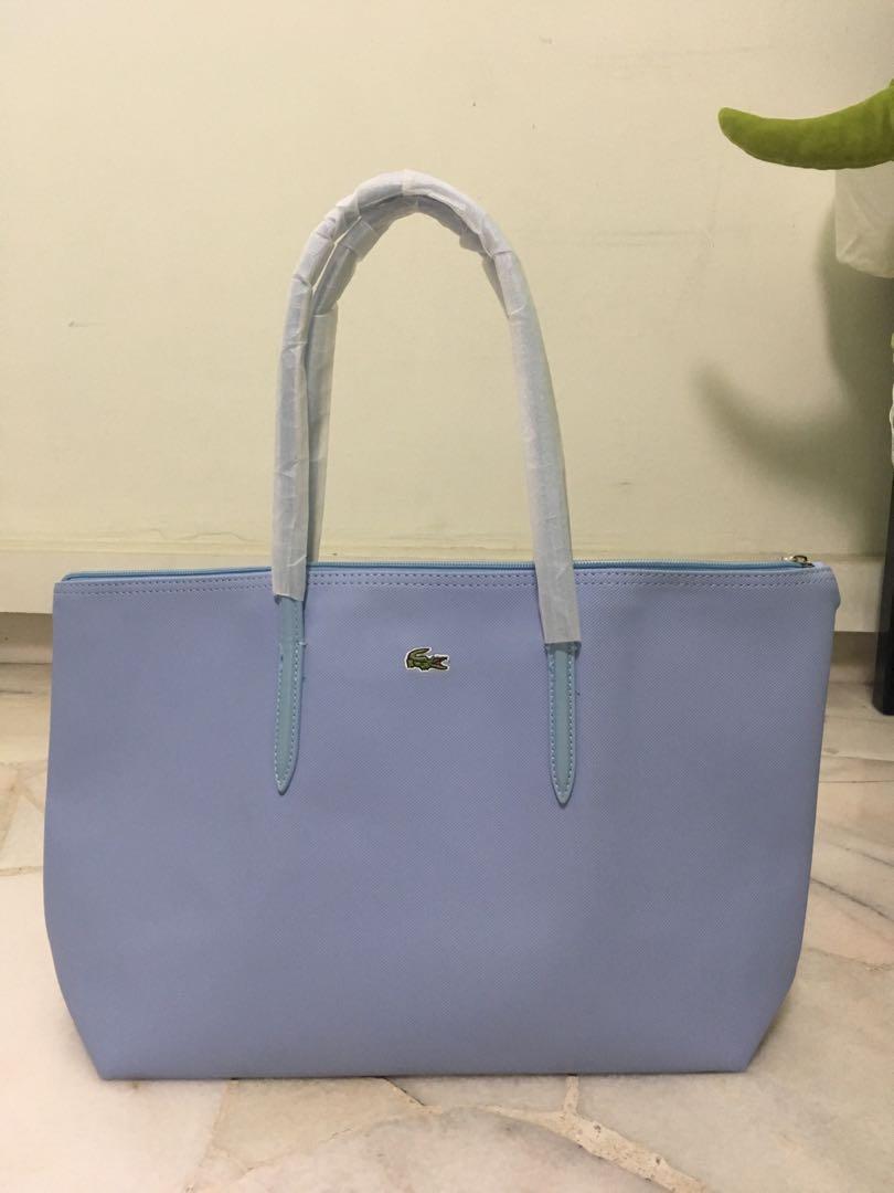 79ba37616 lacoste baby light blue zip totebag handbag crocodile