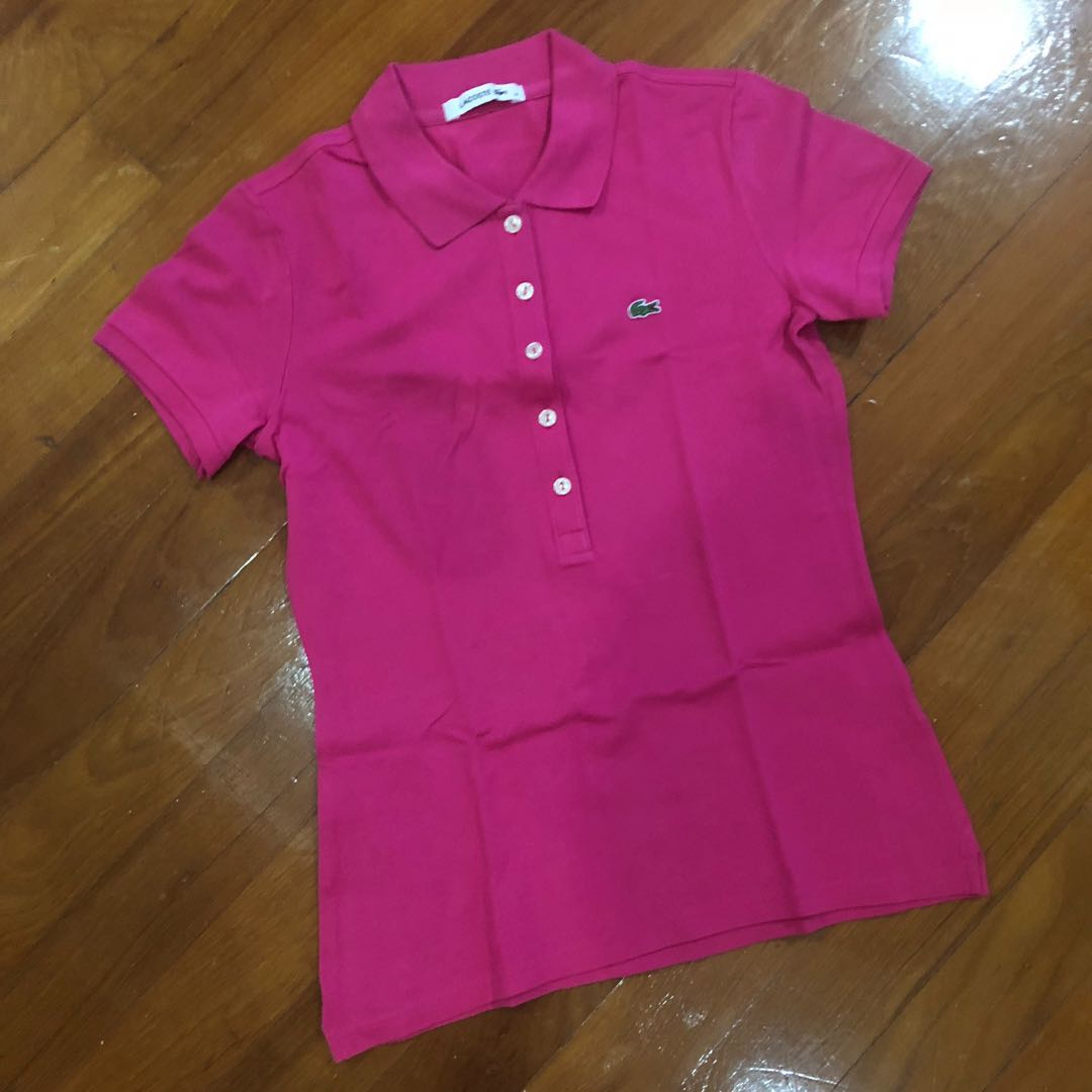 On Lacoste Pink Clothes Rcxfrx Women's Shirt Polo Fashion Tops Carousell shoCBQrtdx