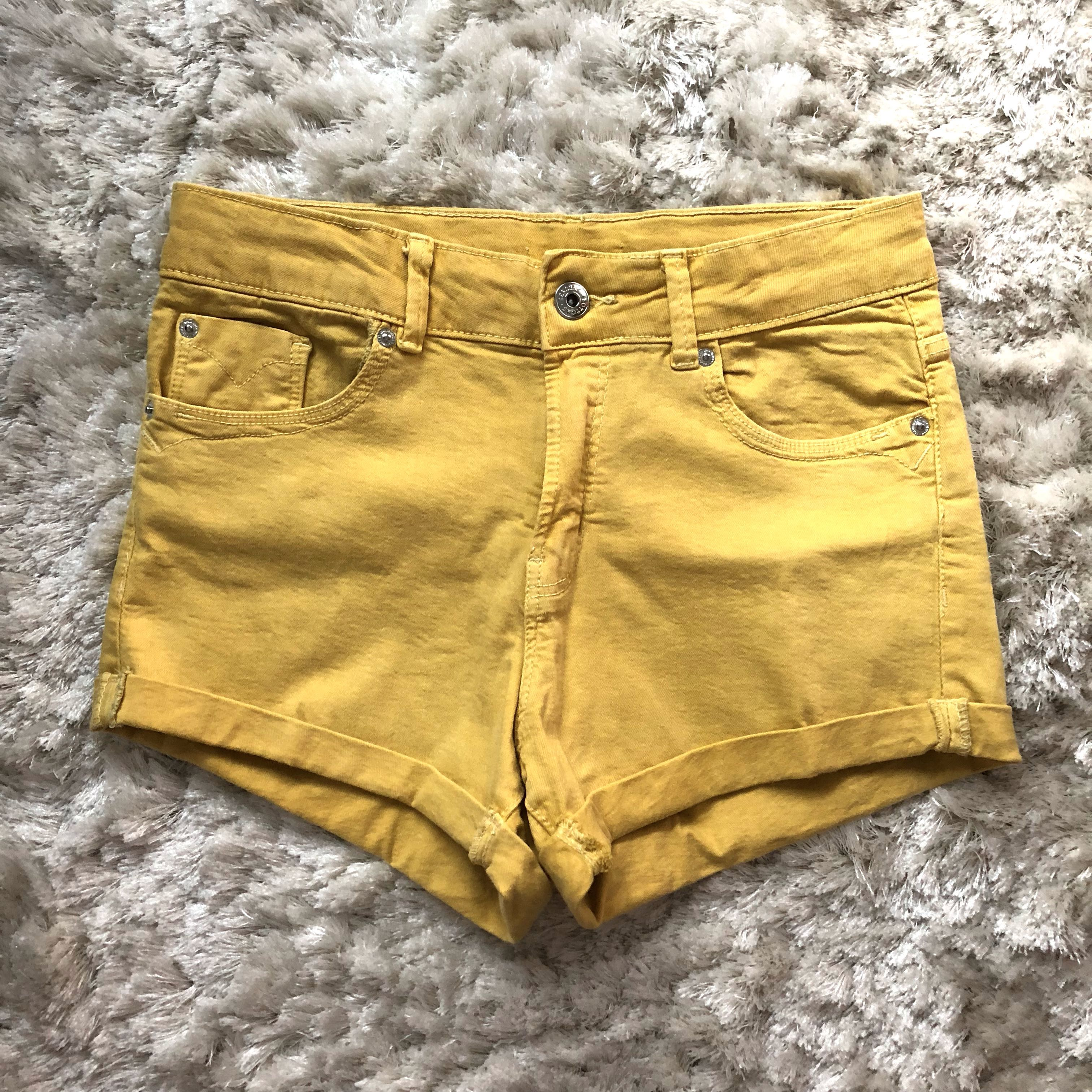 28bc3dcca8 ✨[NEW] FREE NM✨ Bershka Womens High Waisted Denim Shorts - Mustard ...