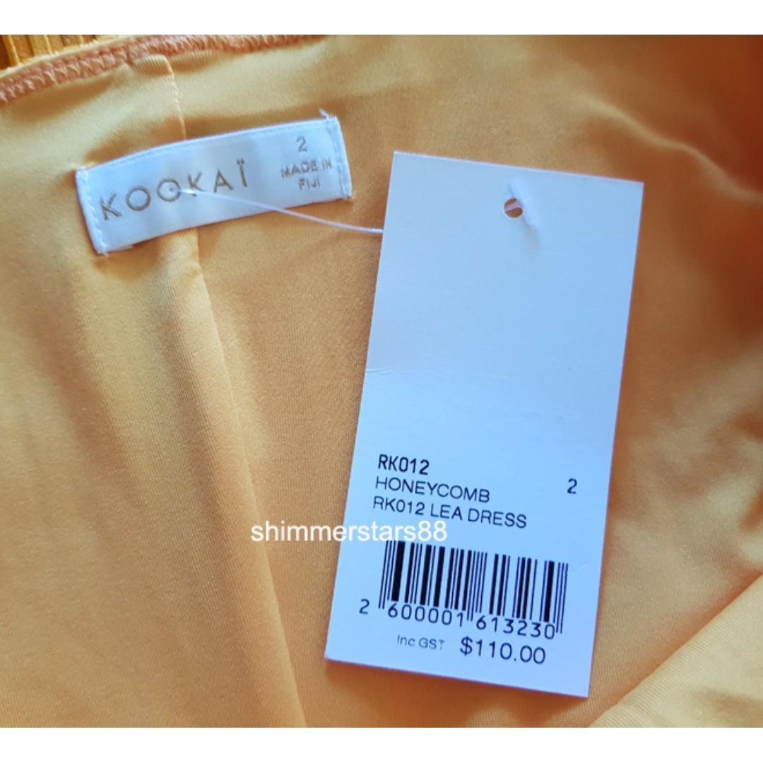 New style Kookai Lea Dress in Honeycomb, RRP$110, FREE POSTAGE