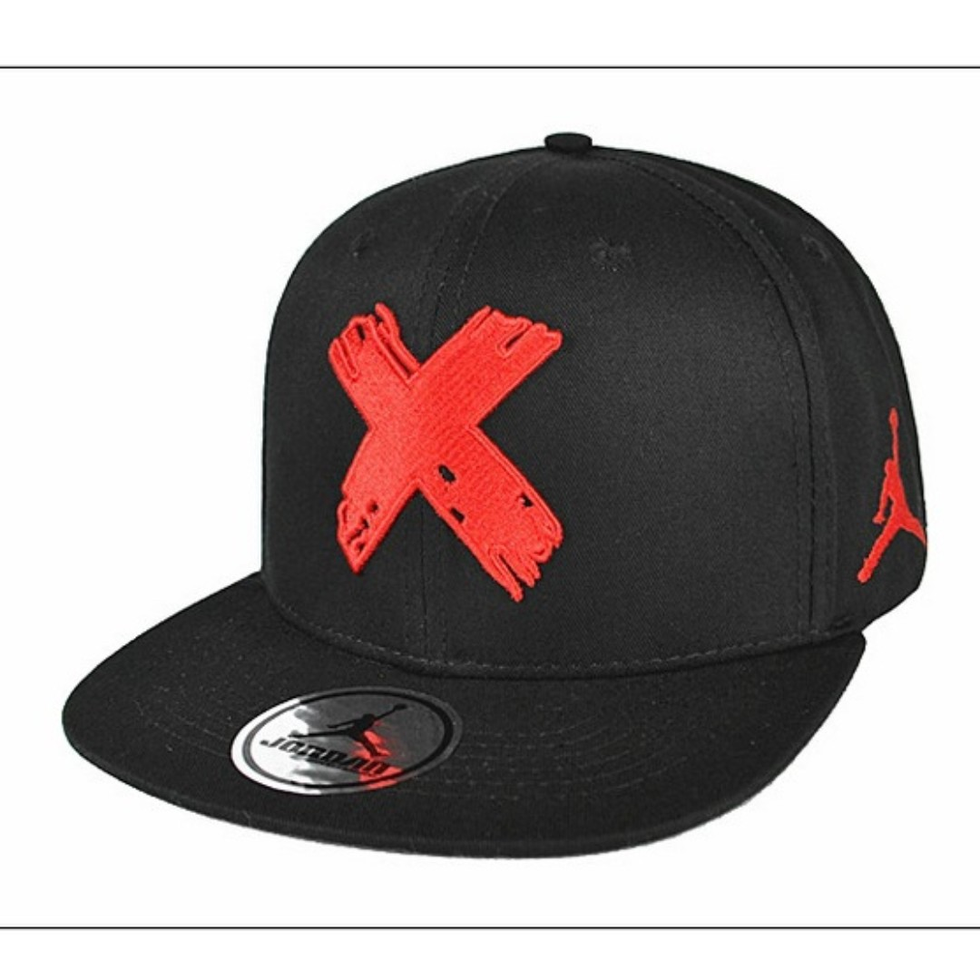 2d48acf1d472 ... order nike air jordan banned men women snapback cap with adjustable  strap black red fesyen lelaki