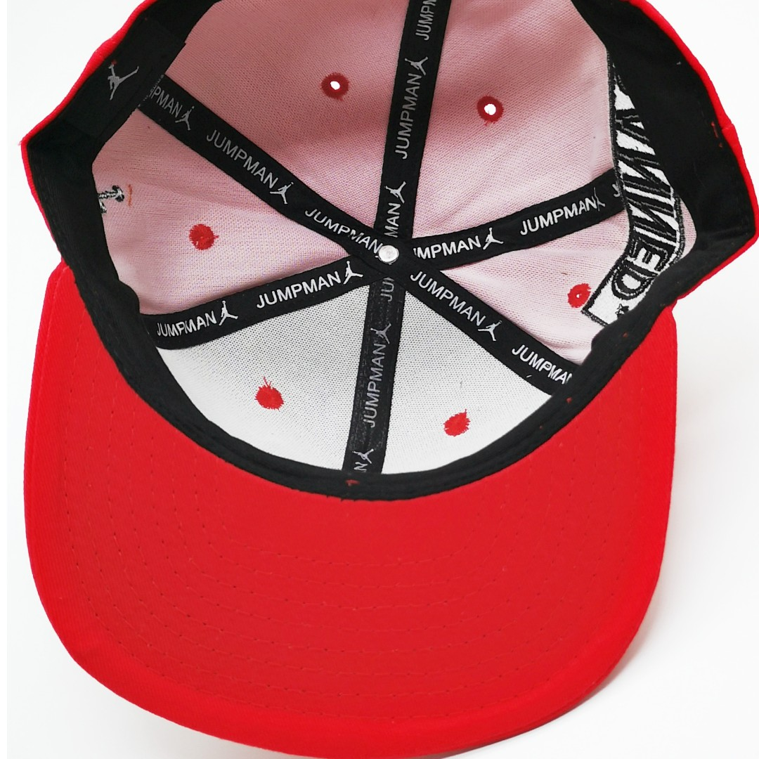 7f240b28284a Nike Air Jordan Banned Men Women Snapback Cap with adjustable strap (Black  Red)