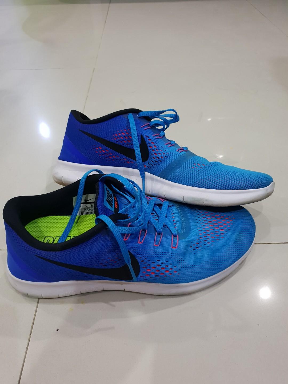 50b1bab7477d Nike Free run Neon Blue Shoes