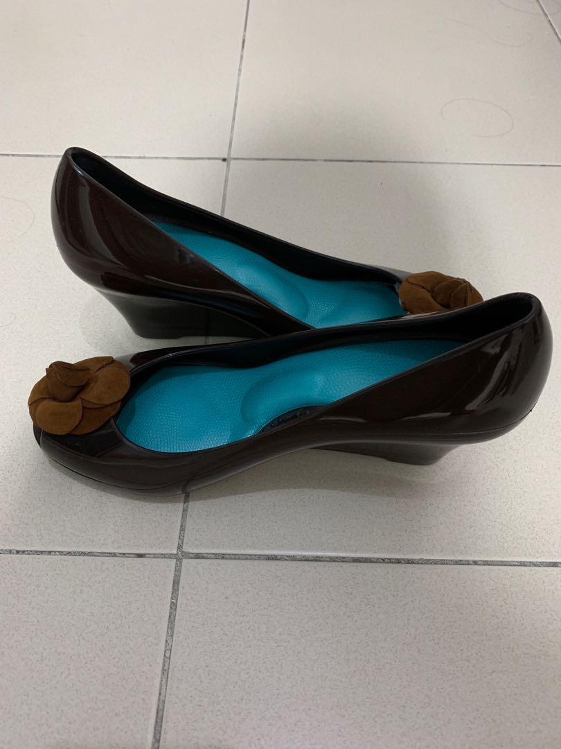 Okra jelly shoes - wedge