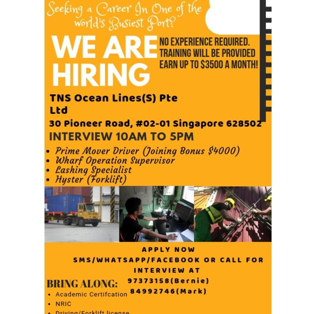 PMDriver / WOS / LASHER / Hyster [S PASS FOR MSIAN (DIPLOMA)