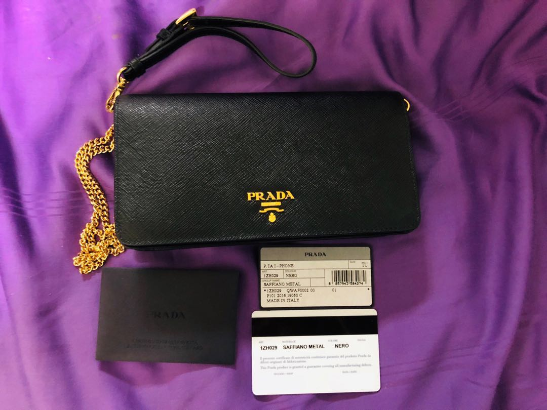 13dcb3759c31d4 Prada Saffiano Leather Shoulder Bag/Wallet/Pouch, Luxury, Bags ...