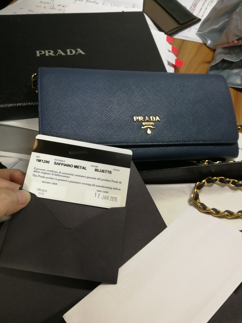 ae1940fac811 Prada Wallet on the chain, Women's Fashion, Bags & Wallets, Sling ...