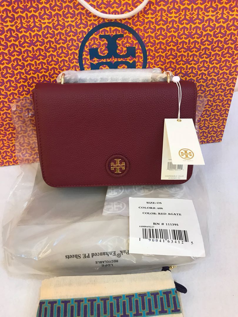 Ready Stock Original Tory Burch Whip Stitch Logo Adjustable Chain Bag Black Cross Body Womens Fashion Bags Wallets On Carousell