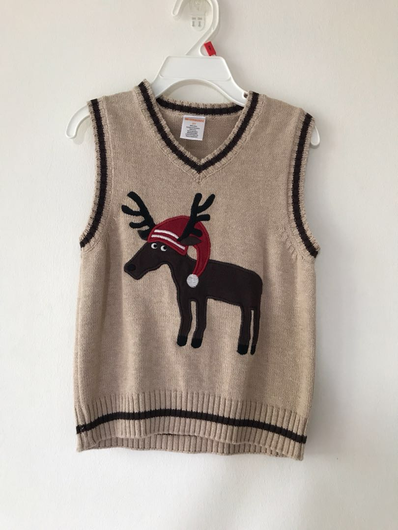 917d09ed9ac6 Reindeer sleeveless sweater ( Gymboree)