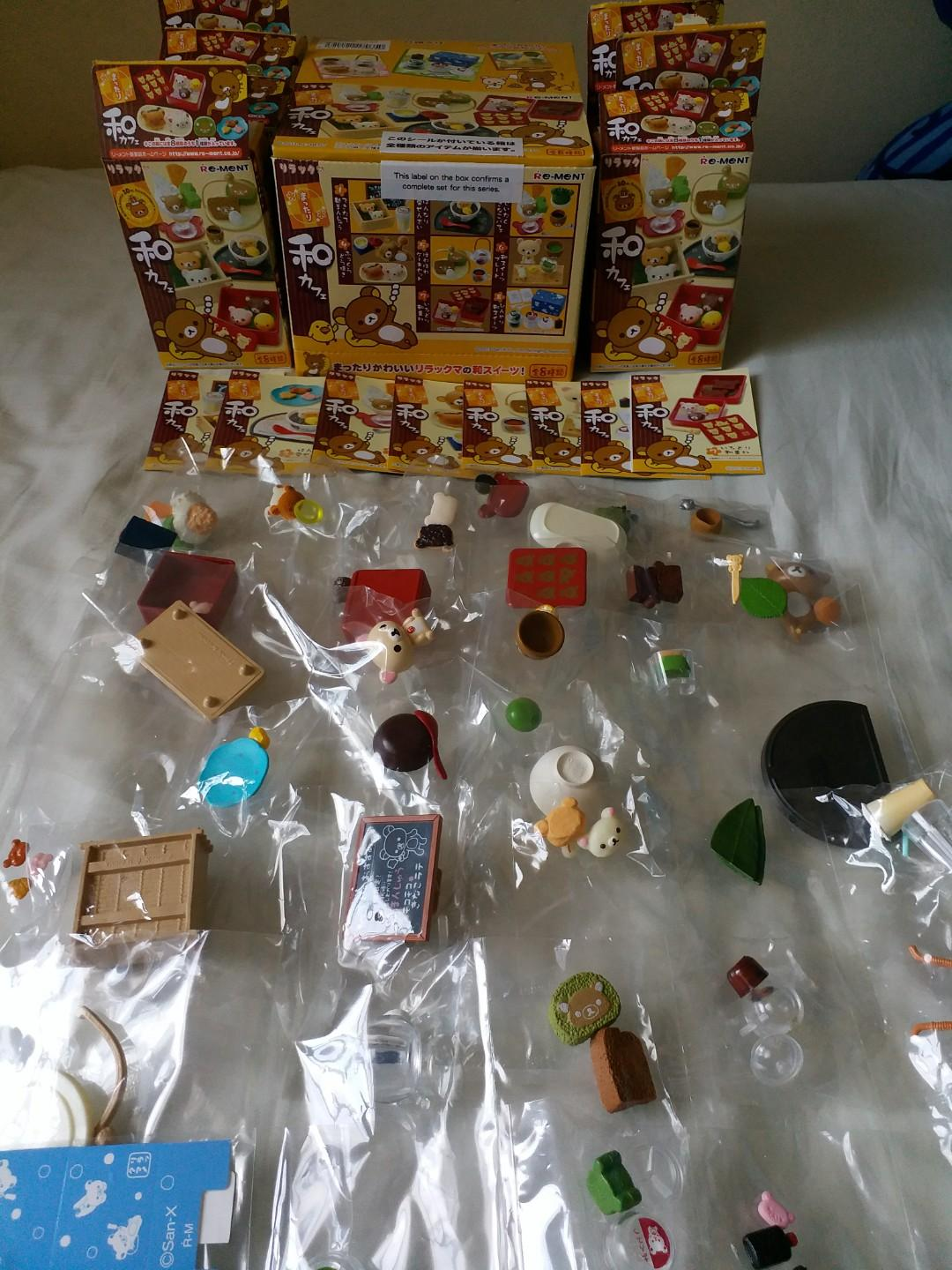 Rilakkuma rement 2013 Japanese Cafe 8 boxes full collection