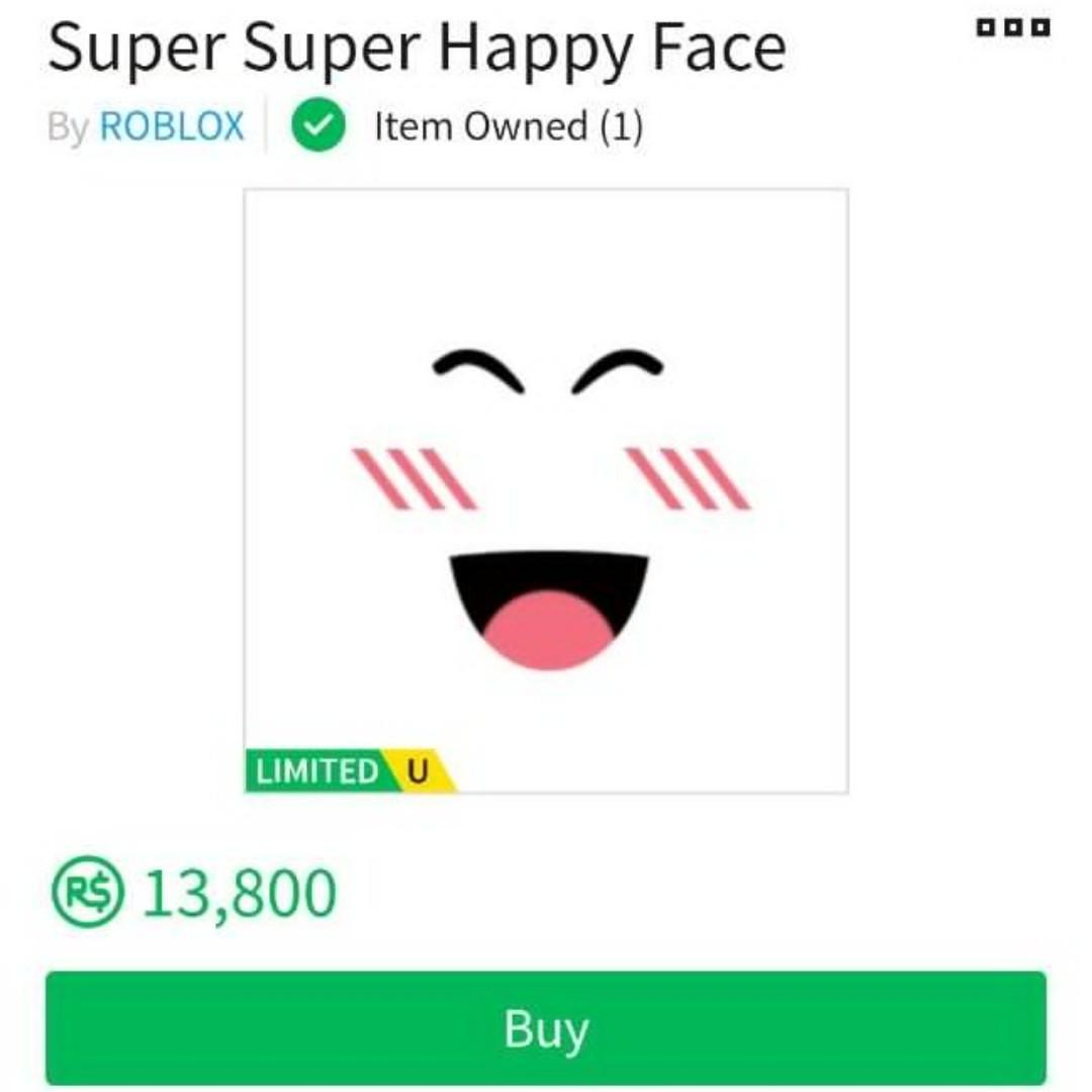 Roblox Super Super Happy Face Toys Games Video Gaming In Game