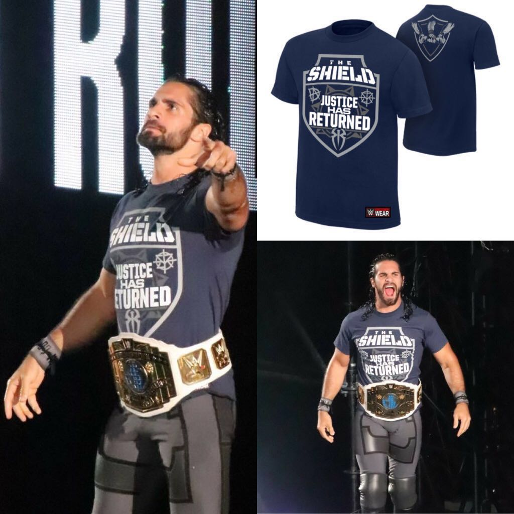 "cc8ca6f1 Seth Rollins / The Shield ""Justice Has Returned"" WWE Tee Shirt ..."