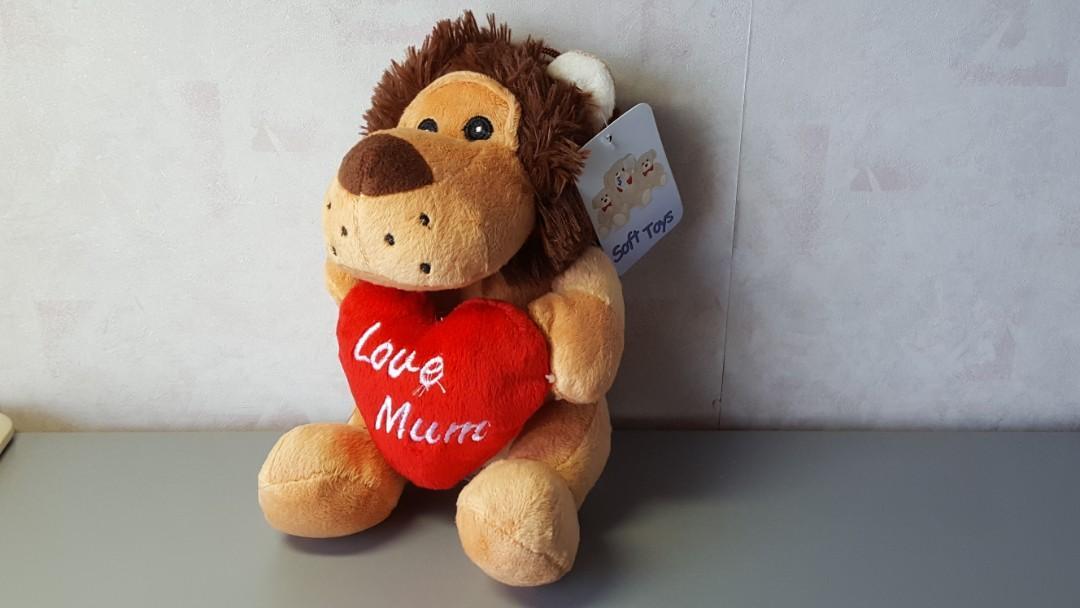 全新名牌SPLOSH給摯愛媽媽相架+小狗毛公仔 Love Mum Photo Frame and Dog Toy