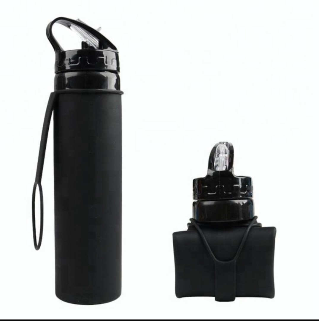 Collapsible Water Bottle Black