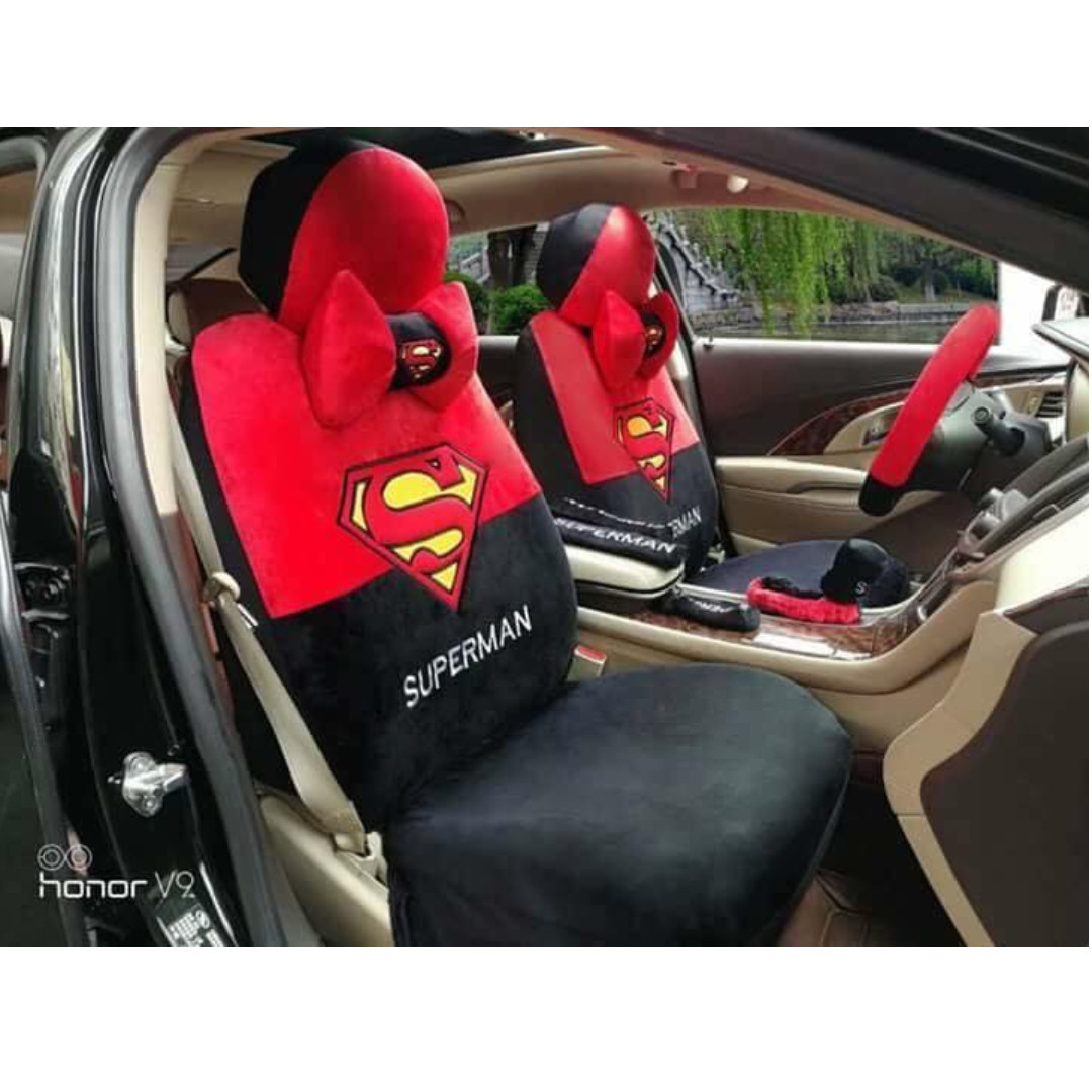 SUPERMAN CAR SEAT COVER For 5 Seater Car Community On Carousell