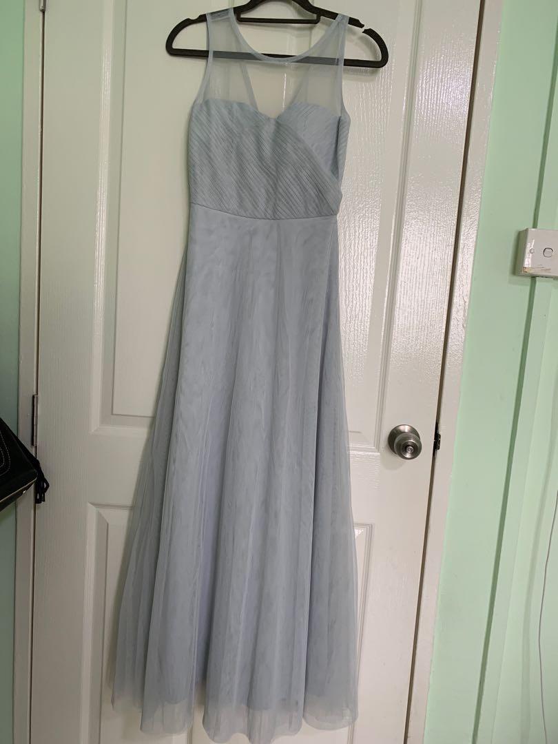 490459bc20f Thread theory - maxi grey-blue dress size xs