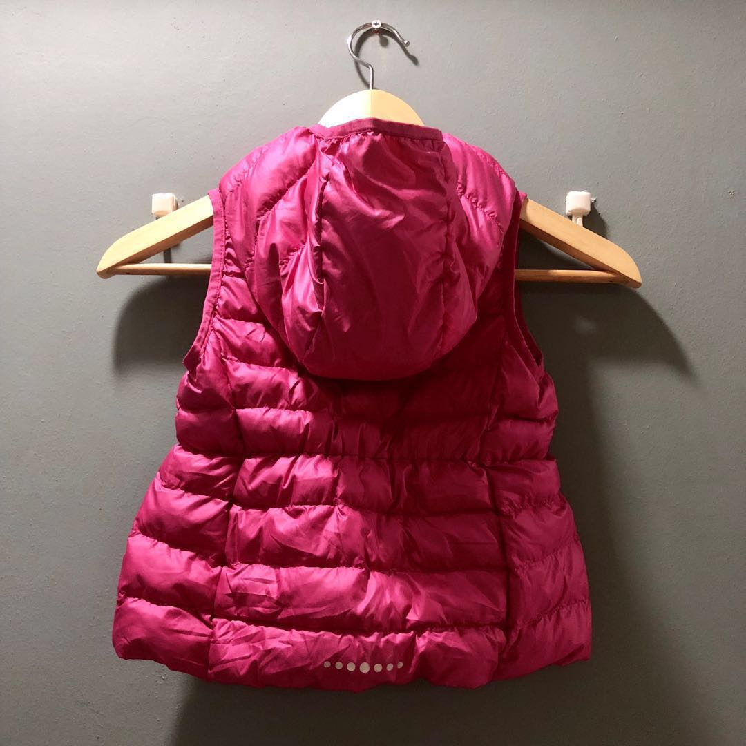 07523108865 Uniqlo (Size: 110) Kid Winter Down Feather Vest Jacket with Hoodie ...